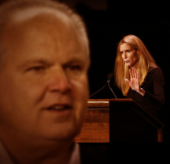 Rush Limbaugh and Ann Coulter