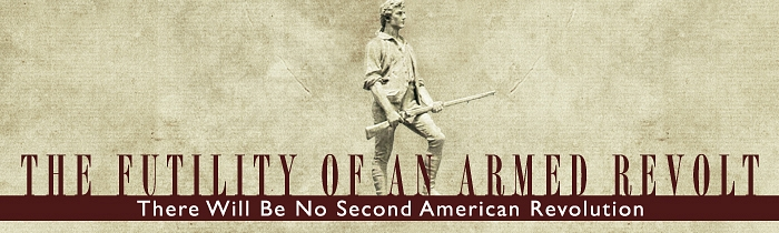 There Will Be No Second American Revolution: The Futility of an Armed Revolt