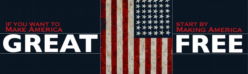 You Want to Make America Great Again? Start by Making America Free Again